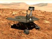 Allein und verlassen auf dem Mars: Der Rover «Oportunity» war seit 2004 auf dem Roten Planeten und wurde jetzt aufgegeben. (Bild: KEYSTONE/AP NASA)