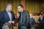 Was läuft schief an der PH Thurgau? GFK-Präsident Walter Hugentobler (SP) und GP-Kantonsrat Peter Dransfeld. (Bild: Andrea Stalder)