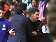 Diego Simeone (rechts) ist bei Atlético Madrid als Trainer längst ein fixer Wert (Bild: KEYSTONE/EPA EFE/JUANJO MARTÍN)