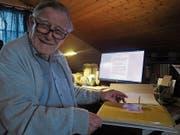 Chronist Rolf Niederer war fünfzig Jahre lang das «Gedächtnis der Gemeinde Lutzenberg». (Bild: Peter Eggenberger)