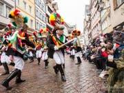 Das kommende Wochenende treffen sich in Altstätten rund 35 Fasnachts-Vereine aus ganz Europa. Der Röllelibutzen Verein (Bild) feiert dabei sein 100-Jahr-Jubiläum. (Bild: Röllelibutzen Verein)