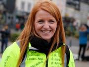 Tritt nicht für die Gelbwesten zur Europawahl an: Ingrid Levavasseur, prominente Vertreterin der Protestbewegung, hat sich von ihrer im Januar präsentierten Wahlliste zurückgezogen. (Bild: KEYSTONE/AP/FRANCOIS MORI)