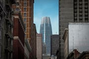 Blick auf den Salesforce Tower in San Francisco – mit 326 Metern das höchste Gebäude der Stadt. (Bild: David Paul Morris/Bloomberg (21. Mai 2018))