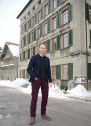 Firmenmitbegründer Patrick Degen hat sein Büro in Trogen. (Bild: Karin Erni)