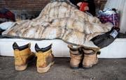 In kalten Nächten nehmen manche auch eine Anzeige wegen Hausfriedensbruch in Kauf. (Bild: Angelika Warmuth/EPA)