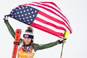 Mikaela Shiffrin gewinnt den WM-Slalom in Are trotz einem leichten Lungeninfekt. (Bild: KEYSTONE/Jean-Christophe Bott, 16. Februar 2019)
