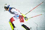 Ramon Zenhäusern hat bereits beim Team-Event eine gute Leistung gezeigt und der Schweiz zu WM-Gold verholfen. (KEYSTONE/Jean-Christophe Bott, 12. Februar 2019)