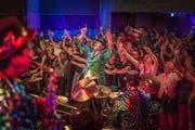 Professionelle Show statt schiefe Töne: Guggen Party 2016 in Mörschwil (Bild: Michel Canonica)