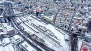 Rund um den Bahnhof St.Fiden soll dereinst ein neuer Stadtteil entstehen. Derzeit erarbeitet die Stadt einen Masterplan. (Bild: Michel Canonica/24. Januar 2019)