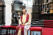 David Blunschi, Pfarrer von Stans, in der Pfarrkirche. (Bilder: Oliver Mattmann (14. Dezember 2018)