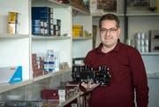 Enrico Huwiler ist Geschäftsführer der Firma Spielwaren Media in Neuwilen. Im Pentorama Amriswil organisiert er nun eine grosse Modelleisenbahn- und Spielwaren-Ausstellung. (Bild: Reto Martin)