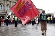 «Marsch fürs Läbe»: Christlich-konservative Gruppierungen demonstrierten 2016 vor dem Bundeshaus gegen Abtreibungen. Bild: Peter Klaunzer / Keystone, Bern, 17. September 2016)
