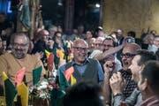 Grossartige Stimmung schon um 19 Uhr - Blick ins Restaurant Obernau während des traditionellen Haxenfrass. (Bild: Pius Amrein, Kriens 18. Februar 2019)