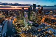 Geschäftshochhäuser in Moskau. Bild: Dmitry Serebryakov/AP (19. Februar 2019)