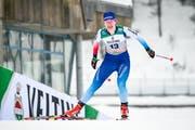 Nadine Fähndrich im Einsatz im Weltcupsprint in Lahti. (Bild: Markku Ojala/EPA, 9. Februar 2019)