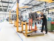 Für Schweizer Industrieunternehmen lief es im vergangenen Jahr gut. Aktuell steht für den Branchenverband Swissmem das institutionelle Rahmenabkommen mit der EU im Fokus. (Bild: KEYSTONE/GAETAN BALLY)