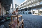Die von einer Baugenossenschaft realisierte Teiggi-Überbauung in Kriens. (Bild: Dominik Wunderli, 22. August 2018)