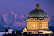 Das Bundeshaus in Bern. (Bild: KEYSTONE/Anthony Anex, Bern, 13. FEbruar 2019)