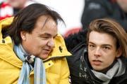 Christian Constantin (links) mit seinem Sohn Barthelemy, Sportchef des FC Sion. (Bild: Salvatore Di Nolfi/KEY)
