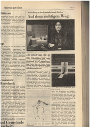 Vor 43 Jahren stellte Müller zusammen mit Guido Caminada in der Kursaal-Galerie in Heiden aus. («Tagblatt »Mai 1976)