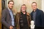 Sie philosophieren bühnentauglich (von links): Yves Bossart, Roland Neyerlin und Rayk Sprecher. (Bild PD)