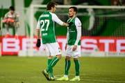 Am 16. Februar gegen Thun spielte Guillemenot erstmals in einem Pflichtspiel für den FC St.Gallen. (Bild: Marc Schumacher)