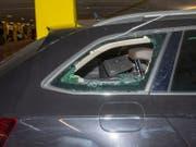 Ein Bild von einem der Fahrzeugaufbrüche. (Bild: Kapo GR)