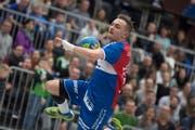 Der Krienser Topscorer Adrian Blättler glaubt an seine Mannschaft. (Bild: Pius Amrein, Kriens, 28. März 2018)