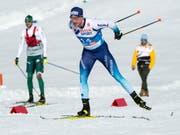 Weit von einer Medaille entfernt: Dario Cologna im Skiathlon (Bild: KEYSTONE/PETER SCHNEIDER)