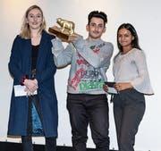 Das Siegerteam bestehend aus Julie Hoffmann, Ciriaco Limongelli und Vinosiya Visvalingam. (Bild: PD)