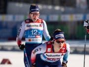 Souverän in den Final, dort aber ohne Chance: das Schweizer Sprint-Duo Laurien van der Graaff (vorne) und Nadine Fähndrich (Bild: KEYSTONE/PETER SCHNEIDER)