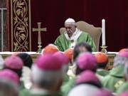 Papst Franziskus bei der Abschlussmesse beim Anti-Missbrauchsgipfel der katholischen Kirche im Vatikan (Bild: KEYSTONE/EPA ANSA/GIUSEPPE LAMI)