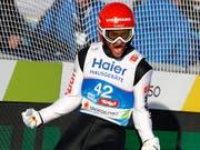 Wieder deutscher Jubel auf der Bergisel-Schanze in Innsbruck: Nach dem Einzelwettkampf gewann Markus Eisenbichler auch mit dem deutschen Team WM-Gold (Bild: KEYSTONE/AP/MATTHIAS SCHRADER)