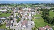 In Mörschwil soll eine neue Zentrumsüberbauung entstehen. Noch ist unklar, wie sie ausgestaltet sein wird. (Bild: Ralph Ribi/28. Mai 2018)