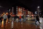 Fans vor dem Champions-League-Match Liverpool gegen Bayern an der Anfield Road. (Bild: Rich Linley/Getty (Liverpool, 19. Februar 2019))