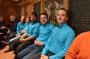 Vertreter des Vereins Jugend Pro Windrad in Oberegg mit Präsident Fabian Ulmann (vorne) als Gäste bei der letzten Grossratssession AI. Bild: Roger Fuchs