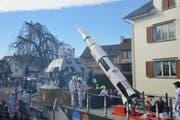 Zum Thema «50 Jahre Mondlandung» bauten die Hobbyleutswiler aus Bischofszell einen technisch aufwendigen Wagenaufbau.