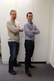Philipp Engel und Marcel Hollenstein (Bild: Martin Rechsteiner)