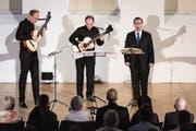 Das Gitarrenduo Morat-Fergo begleitet den Tenor Georg Poplutz. Bild: Philipp Schmidli (Luzern, 24. Februar 2019)