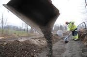 Die Bauarbeiten im Lido Sarnen zu Beginn des Februars 2009. (Archivbild: Corinne Glanzmann)