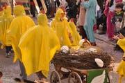 Keiner zu klein für die Fasnacht, dachte sich wohl die Gruppe Chickenfarm Andwil. (Bilder: Zita Meienhofer)
