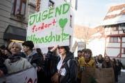 Den Klimanotstand auszurufen ist eine Forderung der streikenden Jugendlichen. Nicht nur auf St.Galler Strassen. (Bild: Benjamin Manser)