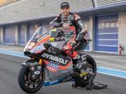Tom Lüthi startet topmotiviert in die neue Saison, in der er wieder in der Moto2-Klasse antreten wird (Bild: KEYSTONE/MARCEL BIERI)
