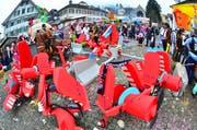 Impression vom letztjährigen Fasnachtsumzug in Stans. (Bild: Markus von Rotz, 8. Februar 2018)
