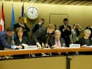 Die Schweiz präsidierte die Geberkonferenz für den Jemen zum dritten Mal zusammen mit der Uno und mit Schweden. Allein in diesem Jahr benötigt die Uno 4,2 Milliarden Dollar. Am Dienstag in Genf sagten die Uno-Mitgliedstaaten 2,6 Milliarden Dollar zu. (Bild: KEYSTONE/SALVATORE DI NOLFI)