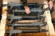 Waffen im Wert von 510 Millionen Franken wurden im vergangenen Jahr exportiert. (KEYSTONE/Gaetan Bally)