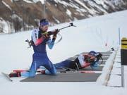 Trainingslager der Biathlon-Nati in Realp. Die WM-Starter holten sich den letzten Schliff für Östersund. (Bild: Urs Hanhart, 26. Februar 2019)