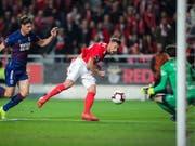 Haris Seferovic erzielte gegen Chaves bereits seinen 15. Meisterschaftstreffer in dieser Saison für Benfica Lissabon (Bild: KEYSTONE/EPA LUSA/MIGUEL A. LOPES)