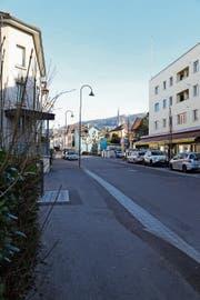 Entlang der Löwenstrasse wird das Gebiet rechts zum Teil aufgewertet oder mit viergeschossigen Häusern überbaut. (Bild: Jolanda Riedener)