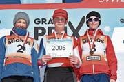 Linus Muheim (rechts) schafft den Einzug ins Finale. (Bild: alphafoto.com, 24. Februar 2019)